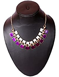 Elprine Vintage Choker Multi Layer Purple Choker Necklace For Women