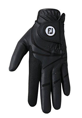 Footjoy GTxtreme–Golf-Handschuh für Linkshänder, Herren, Schwarz, Izquierda - L (Leder Linkshänder Golf Handschuh)