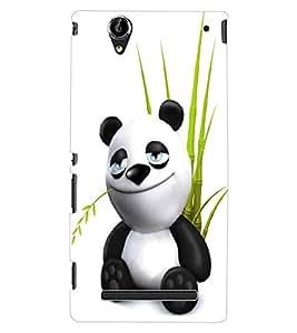 ColourCraft Cute Panda Design Back Case Cover for SONY XPERIA T2 ULTRA DUAL D5322
