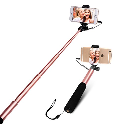 selfie stick yarrashop wired ausziehbar selfie stangen mit vastsean spiegel f r iphone 7 iphone. Black Bedroom Furniture Sets. Home Design Ideas