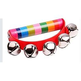2700LON sonaglio-legno Bell cute Kid mesi Play Toy color semicircolare grip Kid Toy (colore casuale)