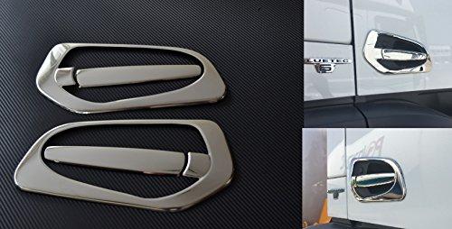 Preisvergleich Produktbild Links und rechts Spiegel Edelstahl Griff Tür Abdeckungen für Mercedes Actros MP4chrom