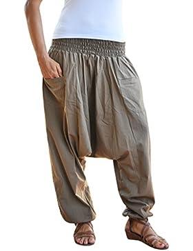 pantalones cagados virblatt color único talla única con entrepierna profunda Unisex S – L, pantalones harem con...