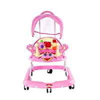 BABY PLUS BABY WALKER WITH CANOPY PINK 6-12 M