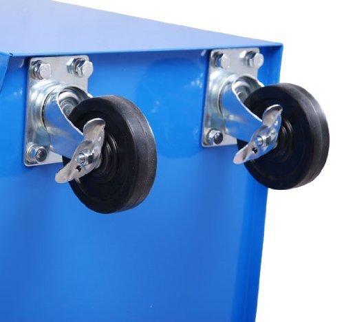 Homcom® Fahrbarer Werkstattwagen Werkzeugwagen Rollwagen Werkzeugkasten mit 5 Schubladen blau - 7