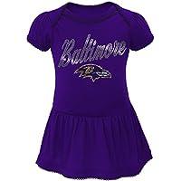 "Baltimore Ravens NFL ""Dazzled"" Infant Girls Bodysuit Dress"