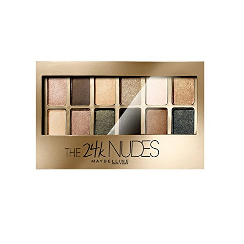 Maybelline New York 24K Gold Nude Palette, 9g