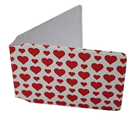 Customcard ltd Valentine Love Heart Travel Bus Pass Wallet, Oyster, Rail, ID, Gym, Card Pass Case