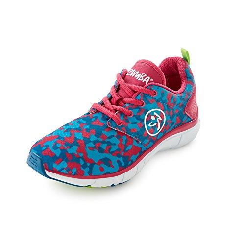 Zumba Footwear Zumba Fly Print, Damen Hallenschuhe, Blau (Tropic Pink/Blue), 40.5 EU (6.5 Damen UK)