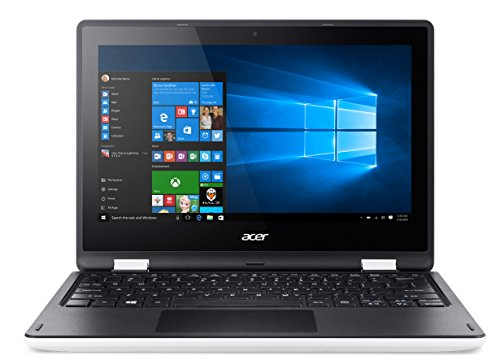 "Acer NX.G11ET.005 Aspire R3-131T Notebook, Display 11.6"" MultiTouch HD LED, Processore Intel Pentium Quad Core N3700, Ram 4GB DDR3, Windows 10, Cloud White"