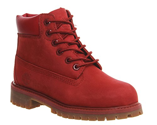 Timberland 6 In Classic Boot FTC_6 In Premium WP Boot 14749, Unisex-Kinder Stiefel Rot