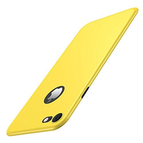 Vanki® iPhone 7 Hülle, PC Schützende Harte Rückseite Schalen Abdeckung Schutz Bumper Handyhülle Case Cover für iPhone 7 (iPhone 7, gelb) (Hart, Hut, Zubehör)