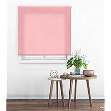 Happystor Clear Estor Enrollable Traslúcido Liso 114-Rosa 120x175