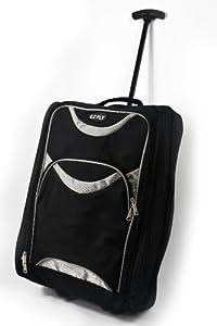 LIGHTWEIGHT WHEELED HAND LUGGAGE TROLLEY SUITCASE - SMALL FLIGHT CABIN BAG (Grey)