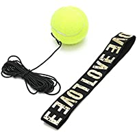 RUNACC Fight Ball Reflex Reaction Speed Balls Portable Practice Punch Ball with Head Band and Elastic String, Suitable for Boxing, MMA and Martial Arts, Yellow