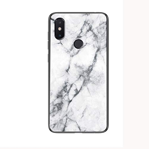 Funda Xiaomi Redmi S2,Mármol Vidrio Templado de Case Cover Ultra Fina Silicona Gel Caja Carcasa Antideslizante de Carcasa Blanda para Xiaomi Redmi S2 (Blanco)