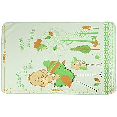 pannolini pad bambino portatile periodo fisiologico impermeabili delle donne lavabili traspiranti di prodotti materasso per bambini appena nati (74 * 98 centimetri)