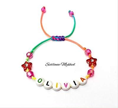 Bracelet à personnaliser avec prénom OLIVIA (réversible, personnalisable) homme, femme, enfant, bébé, nouveau-né.