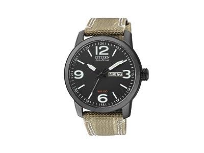 Citizen BM8476-23E - Reloj analógico de cuarzo para hombre, correa de nailon color beige de Citizen
