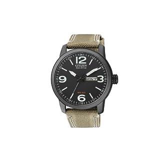 Citizen BM8476-23E – Reloj analógico de Cuarzo para Hombre, Correa de Nailon Color Beige