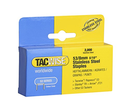 Tacwise 1269 53 x 8 mm (2000) grapas de acero inoxidable