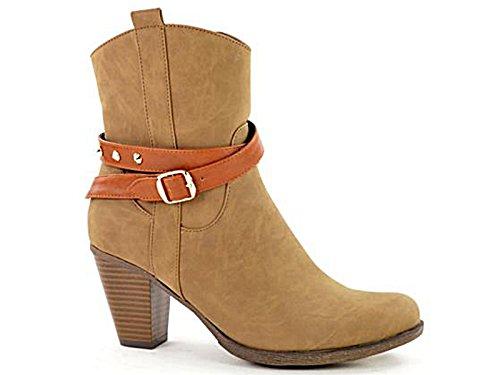 Foster Footwear , Santiags fille femme - Marron - taupe, 39.5