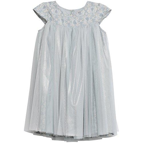 Wheat Mädchen Kleid Empire Elsa Disney Frozen, Gr. 116 (Herstellergröße: 6y), Blau (pearlblue (Für Kleid Frozen Babys)