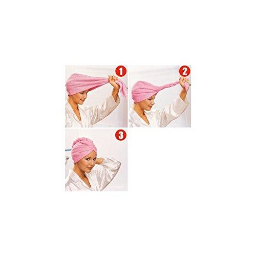 Serviette pour Cheveux en Microfibre coloris aléatoire