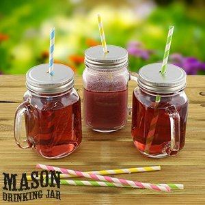 Mason Lot de 3 verres en forme de bocaux transparents avec anses style mug/Jeremiah Weed