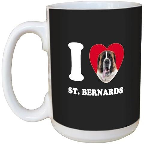 Árbol de-free Tarjeta de felicitación de conejos y corazones de St, Bernards LM45125 15 oz taza de cerámica con mango completo