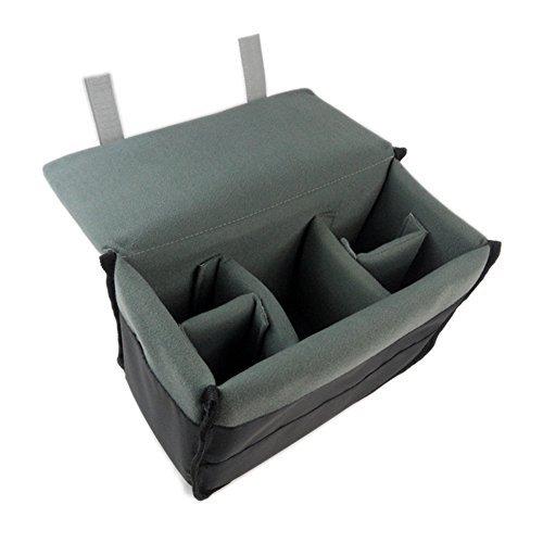 DRF DSLR-Kamera Fall Einfügen Gepolsterte rutschsicher Nylon Tasche für Rucksack, Grau, Large (Camera Bag Insert Für Rucksack)