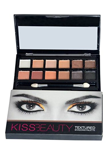 Kiss Beauty 12 Colour Textured Eyeshadow Palette (87045-01)