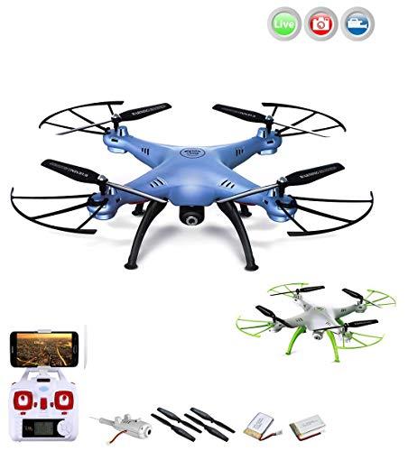 4.5-Kanal RC Drohne Quadrocopter mit Live Kamera, Höhenstabilisierung und vieles mehr, Mega-SET 2x Akku, Zubehör, Crash-Kit