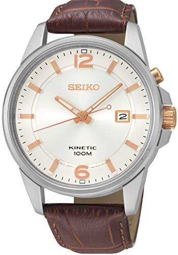 Seiko Homme Analogique Cinétique Montre avec Bracelet en Cuir SKA669J1