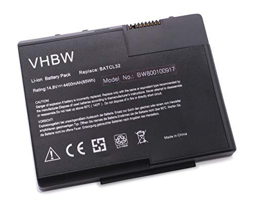 vhbw Batterie LI-ION 4400mAh 14.8V en Noir pour Acer Aspire 2016WLMi etc. remplace BATCL32, BATCL32L, BT.A1401.001, BT.A1401.002, BT.A1405.001