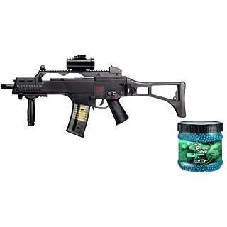 Softair - Gewehr Heckler & Koch G36 C max 0,5 J - elektrisch - Abzugsicherung + 5000 Combat Zone blau BB