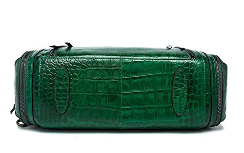 SAIERLONG Nuovo Donna Verde scuro Cera Di Petrolio Pelle Bovina Borse Tracolle Verde scuro