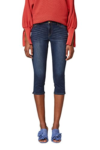 edc by ESPRIT Damen Slim Jeans 038CC1B009, Blau (Blue Dark Wash 901), 27