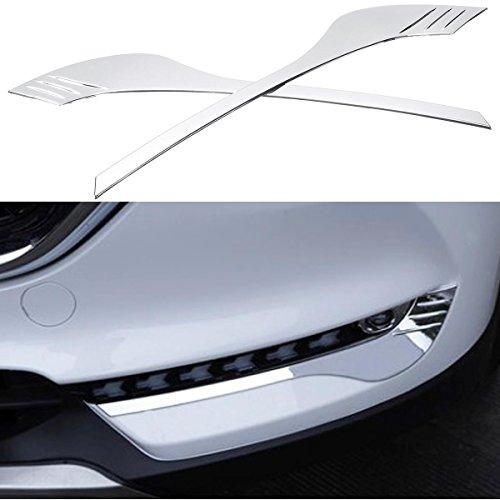 AVANI EXCHANGE Silber ABS Auto Nebelscheinwerfer Abdeckung Blenden für Mazda CX5 2017 2018 Nebelscheinwerfer Abdeckung Zubehör