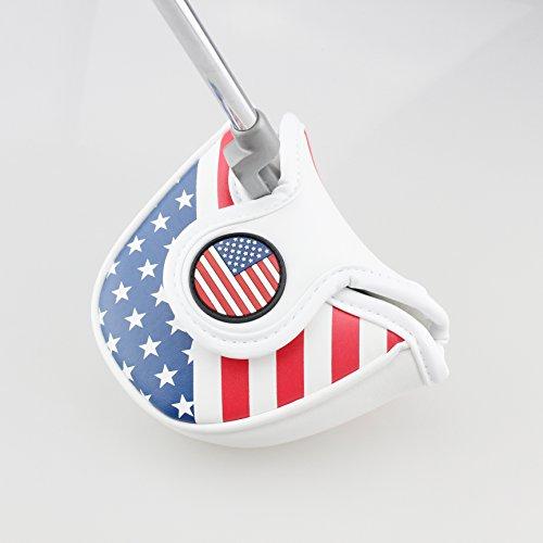 Crestgolf Golf USA America Maillet Putter Housse Couvre-fer pour Odyssey avec Smart Design et parfaite Qualité