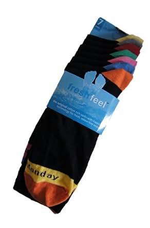 Fresh Feel Lot de 7 paires de chaussettes Jours de la semaine