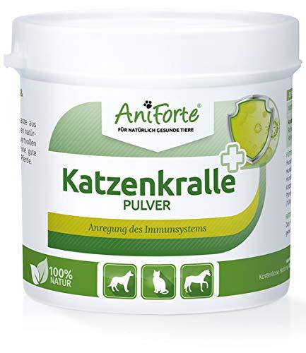 AniForte Katzenkralle Pulver 100g für Hunde, Katzen und Pferde - 100% Natur Pur, Unterstützung Gelenkfunktion, Immunsystem, Förderung Stoffwechsel, Power-Pflanzen Boost, Neue Energie und Lebensfreude