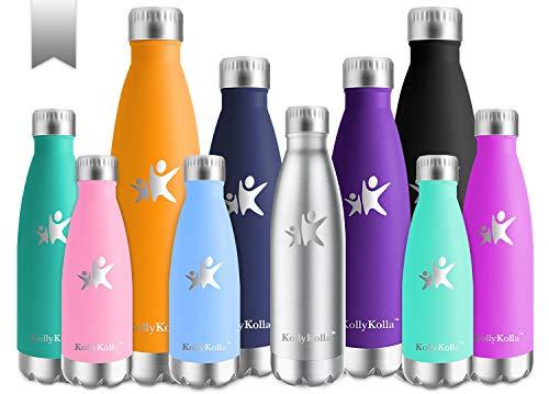 Kollykolla bottiglia acqua in acciaio inox, 750ml senza bpa borraccia termica, isolamento sottovuoto a doppia parete, borracce per bambini, scuola, sport, all'aperto, palestra, yoga, acciaio inox