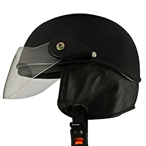 Anokhe Collections Guardian AEJMBS Open Face Helmet (Matte Black, S)