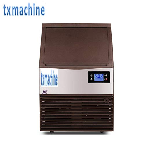 TX® Commercial Ice Maker Stainless Steel automatic Ice Machine Industrial Ice Maker Machine ice cube maker Auto Clean with control panel (220V/50HZ, 132.27lbs/24h) (Machine Ice Maker 220v)