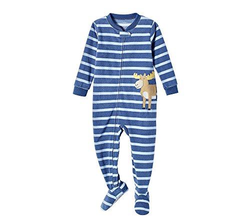 Carter's Baby Boys' 2T-4T Striped Moose Fleece Sleep and Play 4T 4t Fleece