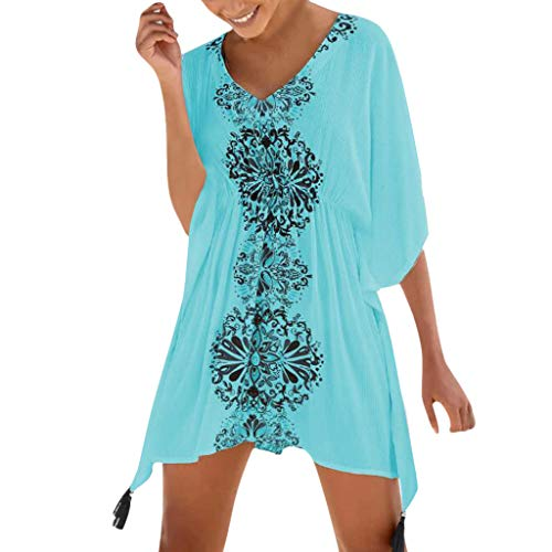 Damen Strandkleid Sommerkleid Bikini Cover Up Sommer Bademode Longshirt Tunika Strandponcho Sommer Bikini Badeanzug Quasten Strand Hemdkleid Einheit Größe Kleidung von Rosennie