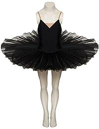Girls Ladies Black Premium Dance Ballet Practise Pancake Plateau 7 Net Layer Tutu By Katz Dancewear