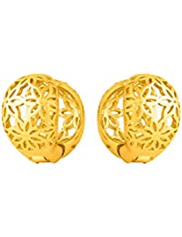 Voylla Dainty Snap Earrings With Gold Plating