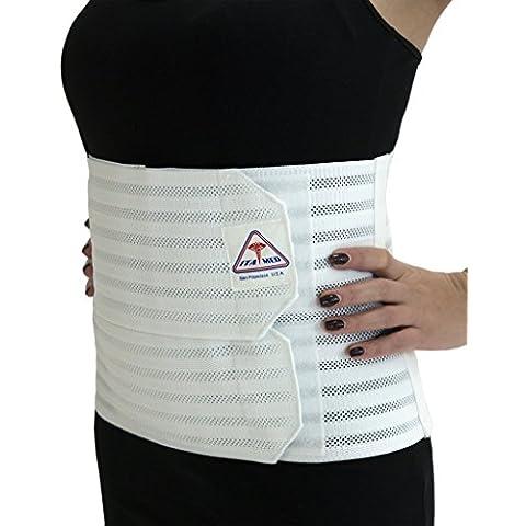 ita-med ab-309(W) 2x l color blanco mujer Apoyo post-partum abdominal Carpeta de anillas con elástico